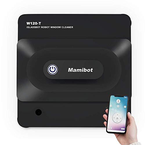 Aspirateur robot de nettoyage de vitres Mamibot W120-T pour fenêtres de carreaux de verre avec application iGlass et télécommande (noir)