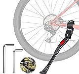 Pata de Cabra para Bicicleta, Altura Ajustable del Retroceso Bici Caballete, con pie Goma...
