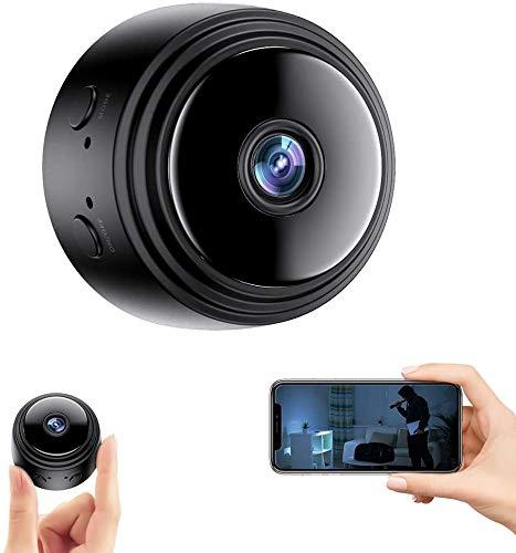 Mini Telecamera Spia Nascosta,Full HD 1080P Portatile Micro Spy Cam Sorveglianza con Visione Notturna,Sensore di Movimento y Batteria,Senza Fili Piccola Microcamere Spia per Esterno/Interno