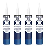 Eazy2hD RV Self Leveling Lap Sealant for RV Roofs,RV Roof Sealant,Camper Caulking, Camper Sealer for Rubber Roof EPDM,White (White, 4 Pack)