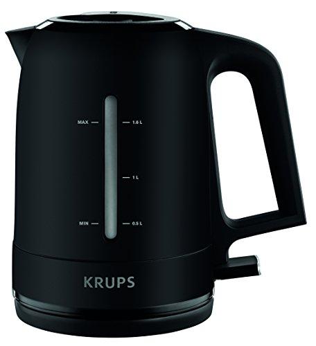 Krups BW2448 Wasserkocher Pro Aroma | 1,6 L Fassungsvermögen | 2.400 W | Beleuchteter Ein-/ Ausschalter | Schwarz