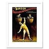The Art Stop AD Circus Vaudeville Sandow Strong Man Dumbell Framed Print F12X2163