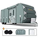 KING BIRD Upgraded Travel Trailer RV Cover, Extra-Thick 5 Layers...