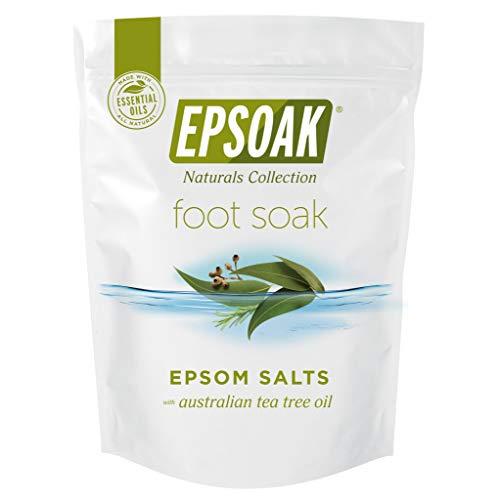 Tea Tree Oil Foot Soak with Epsoak Epsom Salt - 2 Pound Value Bag - Fight Bacteria, Nail Fungus, Athlete's Foot, and Unpleasant Foot Odor