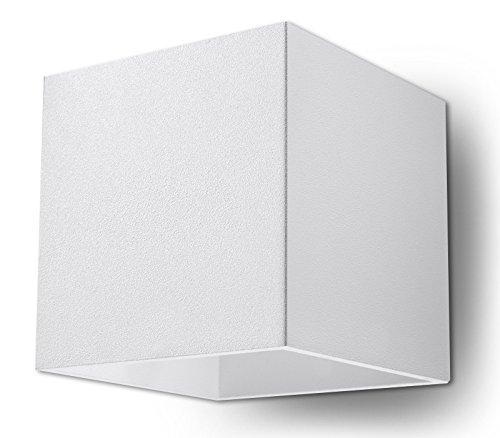 NOVIT! Applique Bianco per cucina e camera - alluminio - SOLLUX QUAD 1 SL.0059 lampada a muro Loft quadrata, stile minimalista, a luce singola LED G-9 *** LAMPADE - I prezzi pi bassi su Amazon!