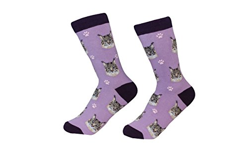 Maine Coon Cat Breed Socks Unisex Sock Daddy by E&S Pets
