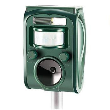 ZONDAR Répulsif à ultrasons pour utilisation en plein air, répulsif pour chats, résistant à l'eau, animaux, souris, chiens, chats, oiseaux
