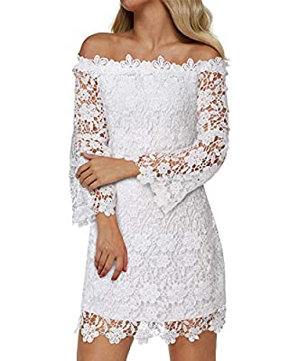 Fabric : Polyester material and lace overlay, high quality fabric, super soft, skin-friendly and lightweight, absolutely gorgeous stylish, this perfect bridesmaid midi dress with just the right floral lace on bodice and hemline, this knee length form...