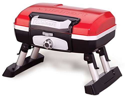 CUISINART CGG-180T CGG180T Portable Propane, 13' H x 16.50' W x 16' L, Petit Gourmet Tabletop Gas Grill, Red