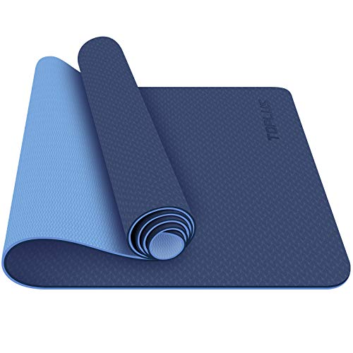TOPLUS Yoga Mat - Classic 1/4 Inch Thick Pro Yoga Mat Eco Friendly Non Slip Fitness Exercise Mat with Carrying Strap-Workout Mat for Yoga, Pilates and Floor Exercises