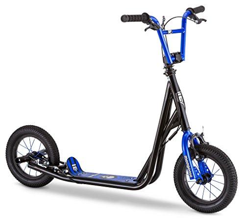 Mongoose Expo - Scooter con ruedas infladas de aire de 30.48 cm para niños, negro/azul