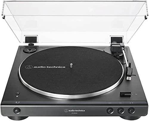 Audio-Technica LP60XBT Platine Vinyle sans Fil À ENTRAÎNEMENT par Courroie Automatique - Noir