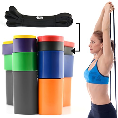 Nero 2.1 cm 15-30kg RESISTENZA BAND Pull Up Bande Esercizio Loop Band Corpo Resistenza Di Addestramento UNIT SINGOLA Trazioni alla Sbarra Assistite Fasce Elastiche per l'Allenamento CrossFit
