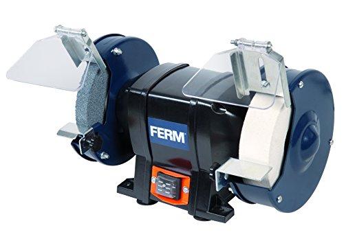 FERM Doppelschleifmaschine 250W - 150mm - Incl. P36 und P60 Schleifsteinen, Schutzbrille und Funkenfänger