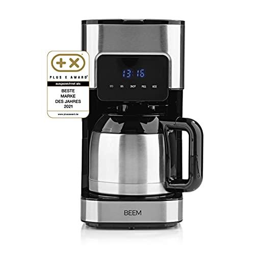 BEEM FRESH-AROMA-TOUCH Filterkaffeemaschine - Thermo   Edelstahl   1 l Thermokanne   24-Stunden-Timer   800 W   Touch-Display   Für 4-8 Tassen