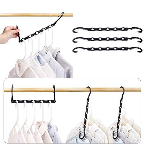 HOUSE DAY Black Magic Hangers Space Saving Clothes Hangers...