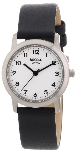 Boccia Damen Analog Quarz Uhr mit Leder Armband 3291-01