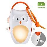 SOAIY Veilleuse Bébé Portable,Lampe USB Rechargeable Aide Sommeil avec...