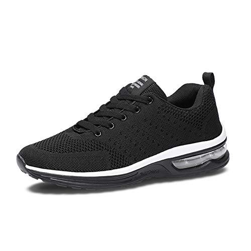 Axcone Homme Femme Air Baskets Chaussures Outdoor Running Gym Fitness Sport Sneakers Style Running Multicolore Respirante- 36EU-46EU, Noir1, 36 EU
