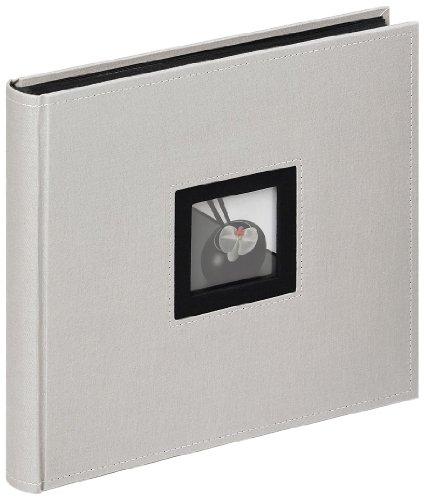 Walther FA-209-D Album fotografico, 26 x 25 cm, 50 pagine nere, Grigio
