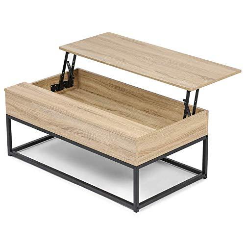 IDMarket - Table Basse Plateau relevable Detroit Design Industriel