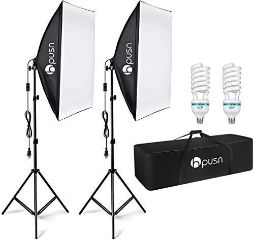HPUSN Softbox Lighting Kit Professional Studio Photography Equipment...