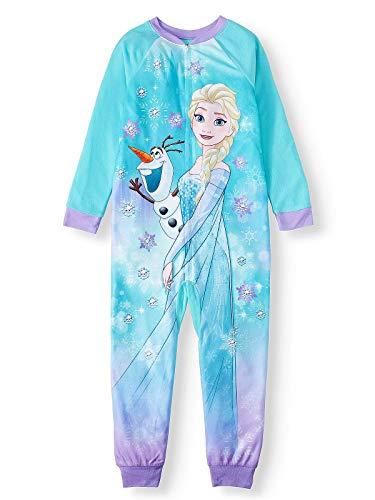Disney Frozen II Elsa and Olaf Blue Fleece Footless Pajama Sleeper