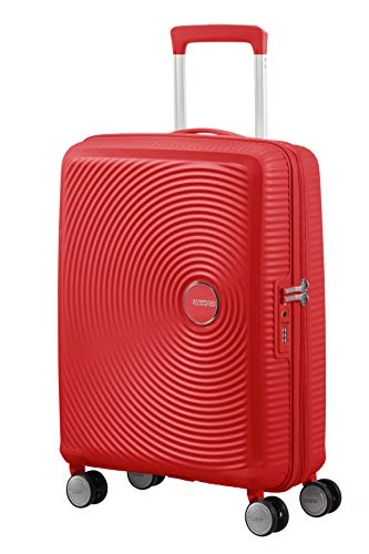 American Tourister Soundbox Spinner Small Expandable Bagaglio A Mano, Rosso (Coral Red), Spinner S...
