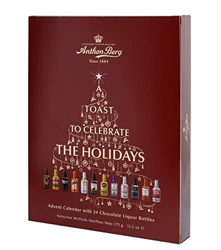Anthon Berg Calendario dell'Avvento con 24 bottiglie di liquore al cioccolato 375g