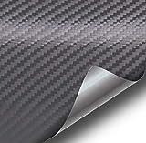 VViViD XPO Dark Grey Carbon Fiber Car Wrap Vinyl Roll with Air Release Technology (10ft x 5ft)
