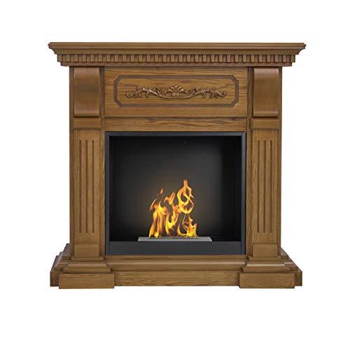 AFLAMO Bio-Fireplace Riviera With Insert Organic 60 Tüv Oak