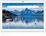 Android Tablet 10 Inch, 3G Phone Tablets with 16GB Storage, Dual SIM Card Slots, Quad-Core Processor, HD Touchscreen, WiFi, Bluetooth, GPS - Silver