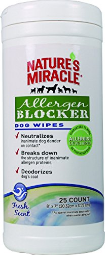 Nature's Miracle Allergen Blocker Dog Wipes 25 ct...