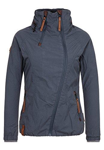 Naketano Damen Jacke Forrester Jacket, dark bluegrey, L