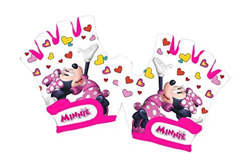 Disney Minnie Mouse, Guanti da Ciclo Bambina, Bianco, XS
