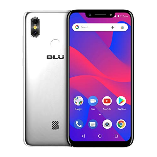 BLU R2 Plus 2019-6.2 HD+ Display Smartphone, 16GB+2GB RAM Silver (Renewed)
