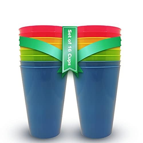 Vasos Plastico Duro Niños y Adultos (16 uds) Vasos Libres d