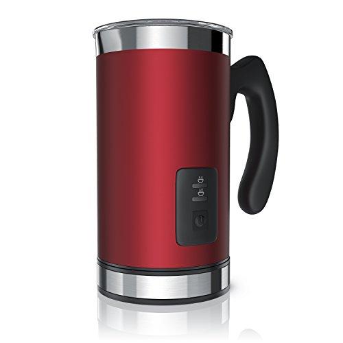 Arendo Milk Frother Montalatte elettrico - Schiumatore latte caldo e freddo - 2 Frullini -...