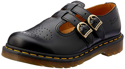 Dr Martens Mary Jane, Merceditas Mujer, Negro (Black Smooth), 38 EU