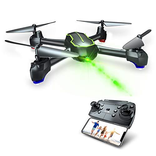 Asbww Drone GPS con Telecamera HD 1080p per Principianti, Quadricotteri RC Droni FPV con GPS Funzione di RTH / 32 Minuti di Volo / Funzione Seguimi ( Due batterie )