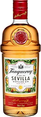 Tanqueray Flor De Sevilla Distilled Gin – Fruchtiger und mediterraner Gin mit bitter-süßem Orangenaroma – Ideale Spirituose für Cocktails oder Gin Tonic – 1 x 0,7l