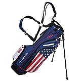 PROSiMMON Golf DRK 7' Lightweight Golf Stand Bag with Dual Straps - USA Flag
