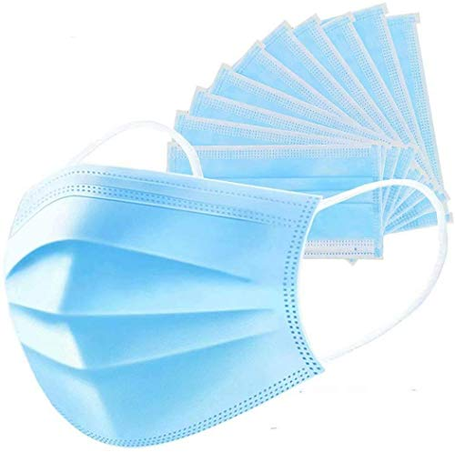 50 PCS Filter 3-ply Face Mask Disposable Personal Protection Dust-Proof Anti Spittle Eye Mask for Earloop