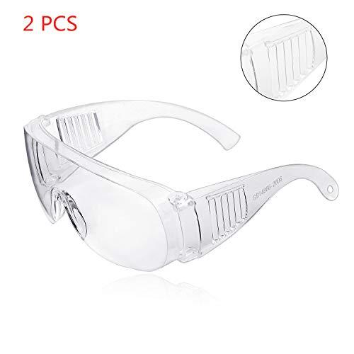 ZHIKE Occhiali Protettivi, Clear Antiappannamento e Occhiali AntiGraffio per Lavoro e Sport, Uomo,...