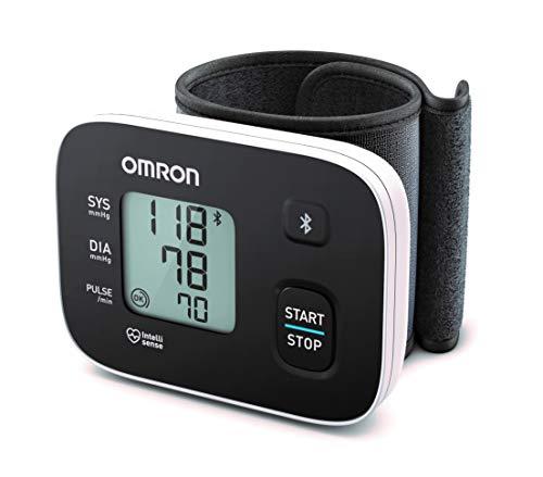 OMRON RS3 Intelli IT Misuratore di Pressione da Polso con Connettivit Bluetooth, da Usare a Casa e...