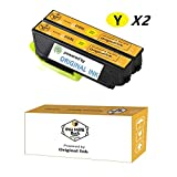 OneMoreBuck Repackaged 410XL Ink Cartridges with Original Brand Ink, Pack-2 (2 Yellow XL)