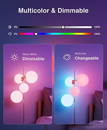 Smart Light Bulbs, Color Changing Dimmable LED WiFi Bulbs Work with Alexa and Google Home, RGB Multicolor and Warm White A19 E26 75W Equivalent Bulbs, 2.4GHz WiFi Only, No Hub Required, 4 Pack 13