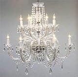 Chandelier Lighting Crystal Chandeliers H27' X W32'