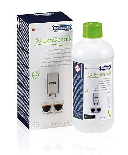 De'Longhi Original EcoDecalk DLSC500 Entkalker für Kaffeemaschinen & Kaffeevollautomaten, Universal Kalklöser für 5 Entkalkungsvorgänge, enthält nur natürliche Rohstoffe pflanzlichen Ursprungs, 500 ml