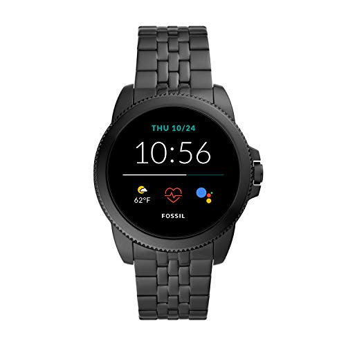 Fossil 44mm Gen 5E Stainless Steel Touchscreen Smart Watch with...